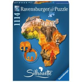 Ravensburger - Puzzle Silhouette Afryka 1114 elem. 161577