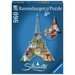 Ravensburger - Puzzle Silhouette Wieża Eiffla 960 elem. 161522