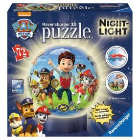 Ravensburger - Puzzle 3D 72 elementy Psi Patrol Lampka nocna 121878