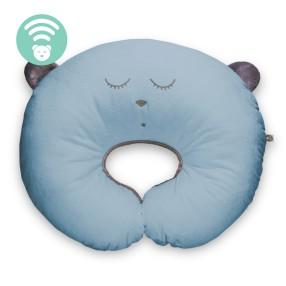 Szumisie - Poduszka do karmienia Śpiący miś Niebieska 29279