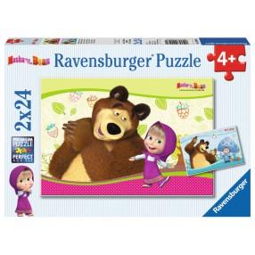 Ravensburger - Masza i Niedźwiedź Puzzle 2x24 elem. 090464