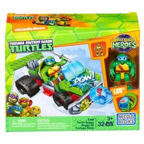 Mega Bloks Żółwie Ninja - Żółw Ninja Leo z pojazdem buggy DMW43