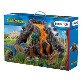 Schleich - Wielki wulkan i dinozaur T-Rex 42305