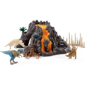 Schleich - Ogromny wulkan i dinozaur T-Rex 42305