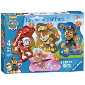 Ravensburger - Psi Patrol Puzzle Kształty 4w1 070329