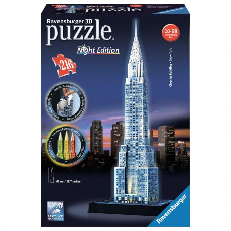 Ravensburger - Puzzle 3D Chrysler Building LED Night Edition 125951
