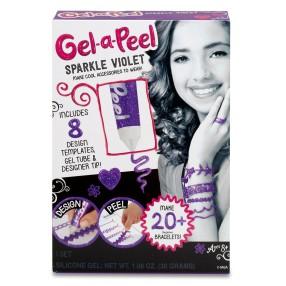 Gel-a-Peel - Zestaw Podstawowy Magiczny żel Tuba BROKATOWY Fiolet 542087