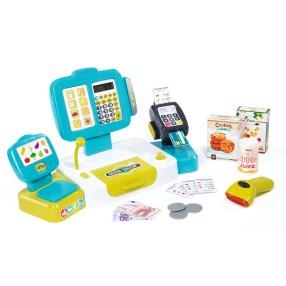 Smoby - Kasa sklepowa elektroniczna z panelem dotykowym i czytnikiem 350105