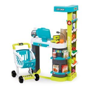 Smoby - Supermarket City Shop z kasą, wózkiem i akcesoriami 350207