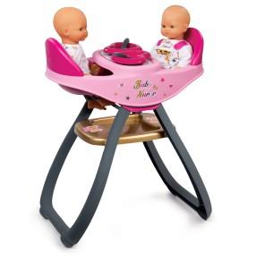 Smoby Baby Nurse - Krzesełko do karmienia dla bliźniąt, bujak 2w1 220315