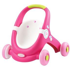 Smoby Minikiss - Chodzik Wózek dla lalek 2w1 210201