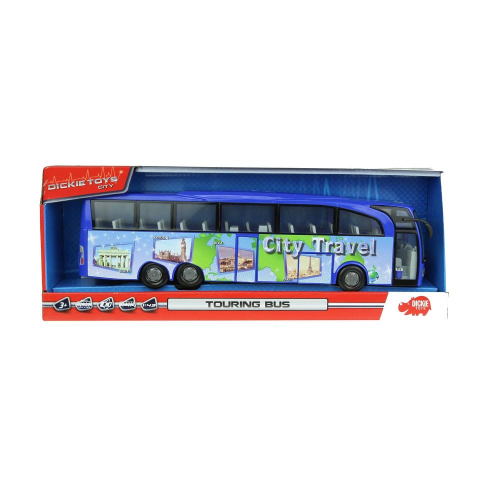 Dickie - Autobus turystyczny City Travel Bus Niebieski 3745005 A