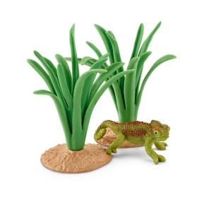 Schleich - Kameleon w trzcinach 42324