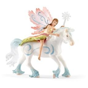 Schleich Świat Elfów Bayala - Elf Nelenja i koń 70538