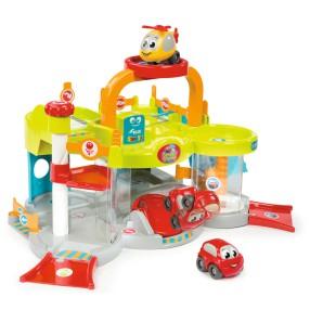 Smoby Vroom Planet - Mój pierwszy garaż + autko i helikopter 120402