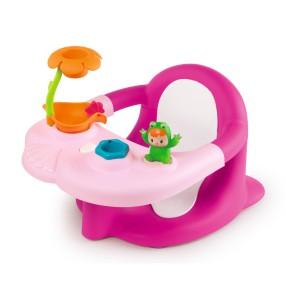 Smoby Cotoons - Żabka Siedzonko do kąpieli + Stolik kreatywny 2w1 Różowe 110616