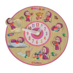 Eichhorn Masza i Niedźwiedź - Puzzle edukacyjne z zegarem 9304084