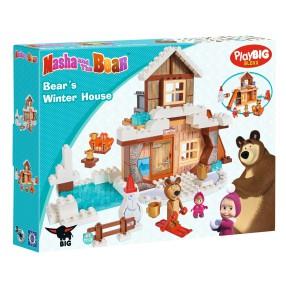 BIG Masza i Niedźwiedź - Klocki Zimowy dom Niedźwiedzia 57100