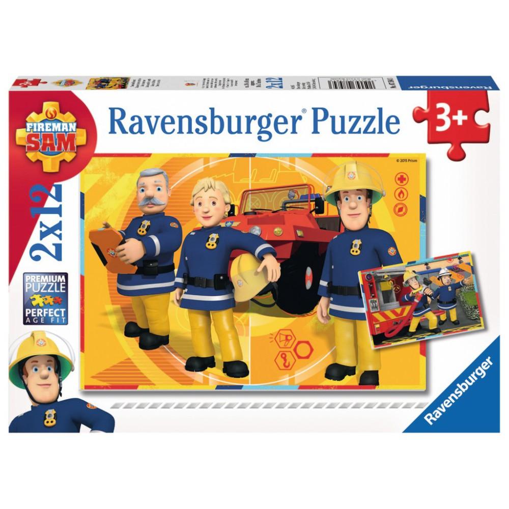 Ravensburger - Strażak Sam w akcji Puzzle 2 x 12 elem. 075843