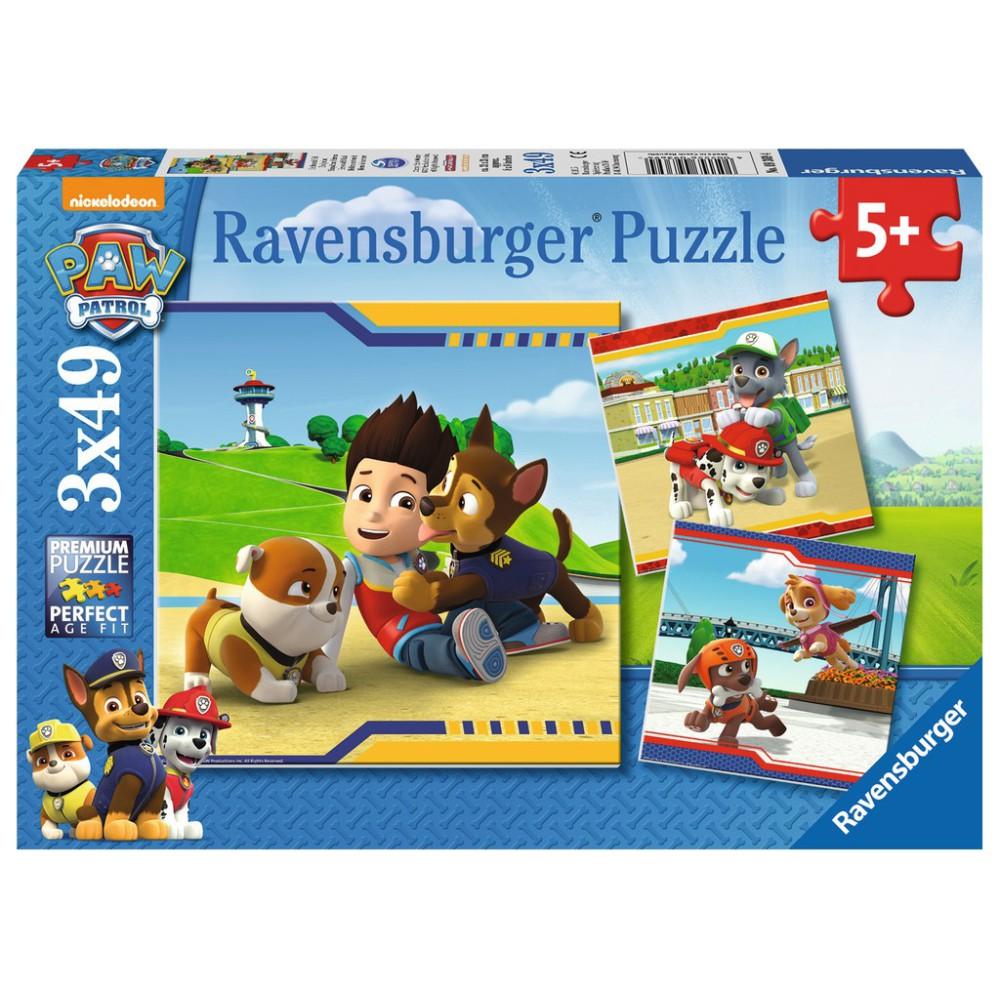 Ravensburger - Psi Patrol Futrzani przyjaciele Puzzle 3 x 49 elem. 093694