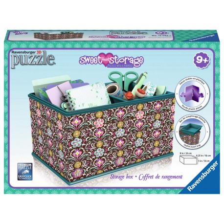 Ravensburger - Puzzle 3D Girly Girl Kuferek Sweet Heart 216 elem. 120826