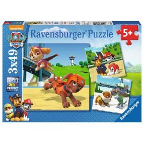 Ravensburger - Psi Patrol Zespół na 4 łapach Puzzle 3 x 49 elem. 092390