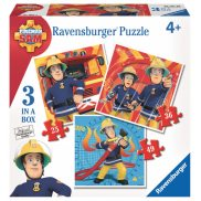Ravensburger - Strażak Sam 3 w 1 Puzzle 25-36-49 elem. 070657