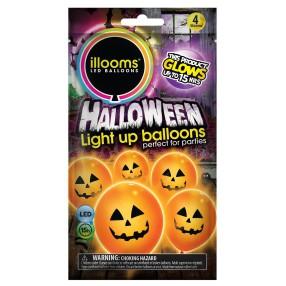 Illooms - Podświetlane balony LED Dynie 4 szt. 80009 03