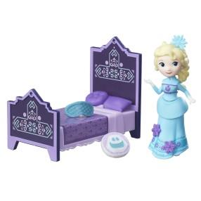 Hasbro Disney Frozen Kraina Lodu - Mini laleczka Elsa z łóżkiem B7461