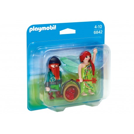Playmobil - Duo Pack Elf i krasnal 6842