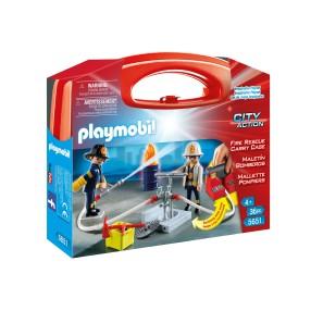 Playmobil - Skrzyneczka Strażacy 5651