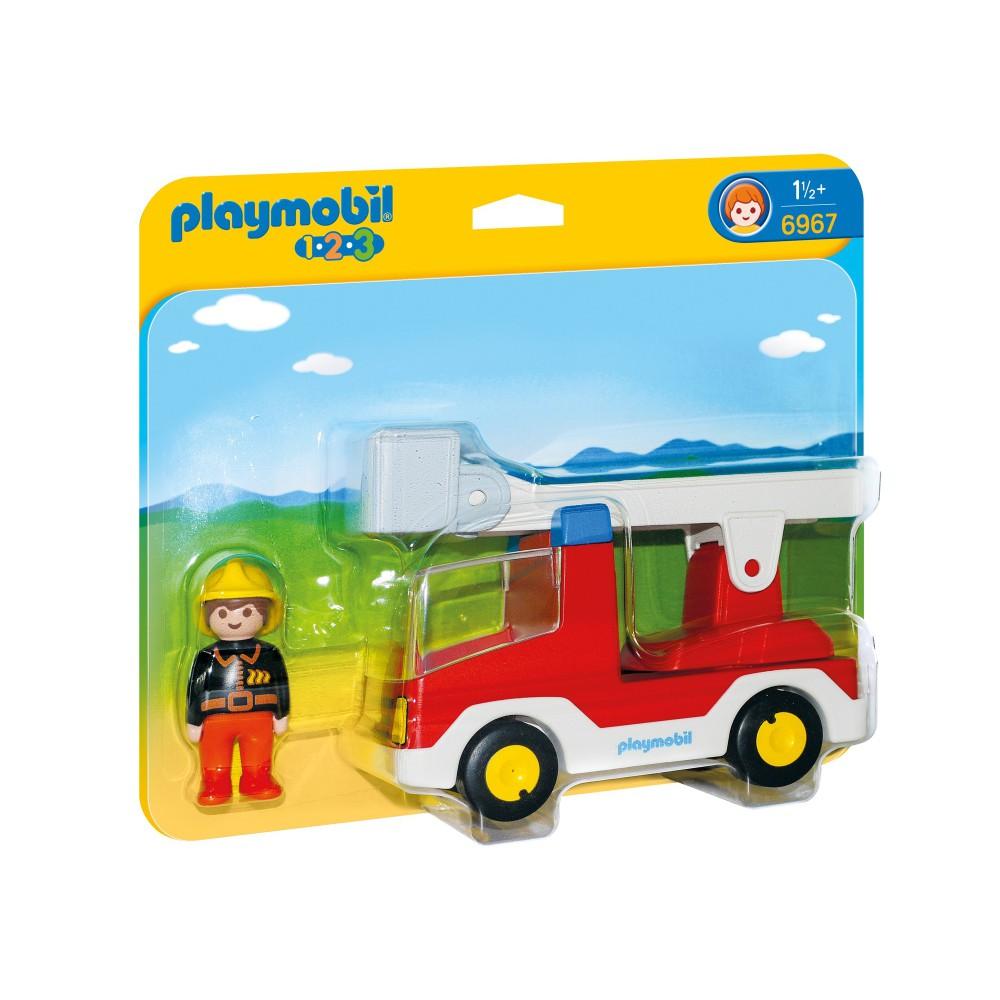Playmobil - 1.2.3 Wóz strażacki z drabiną 6967