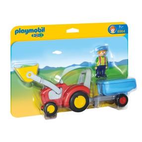 Playmobil - 1.2.3 Traktor z przyczepą 6964