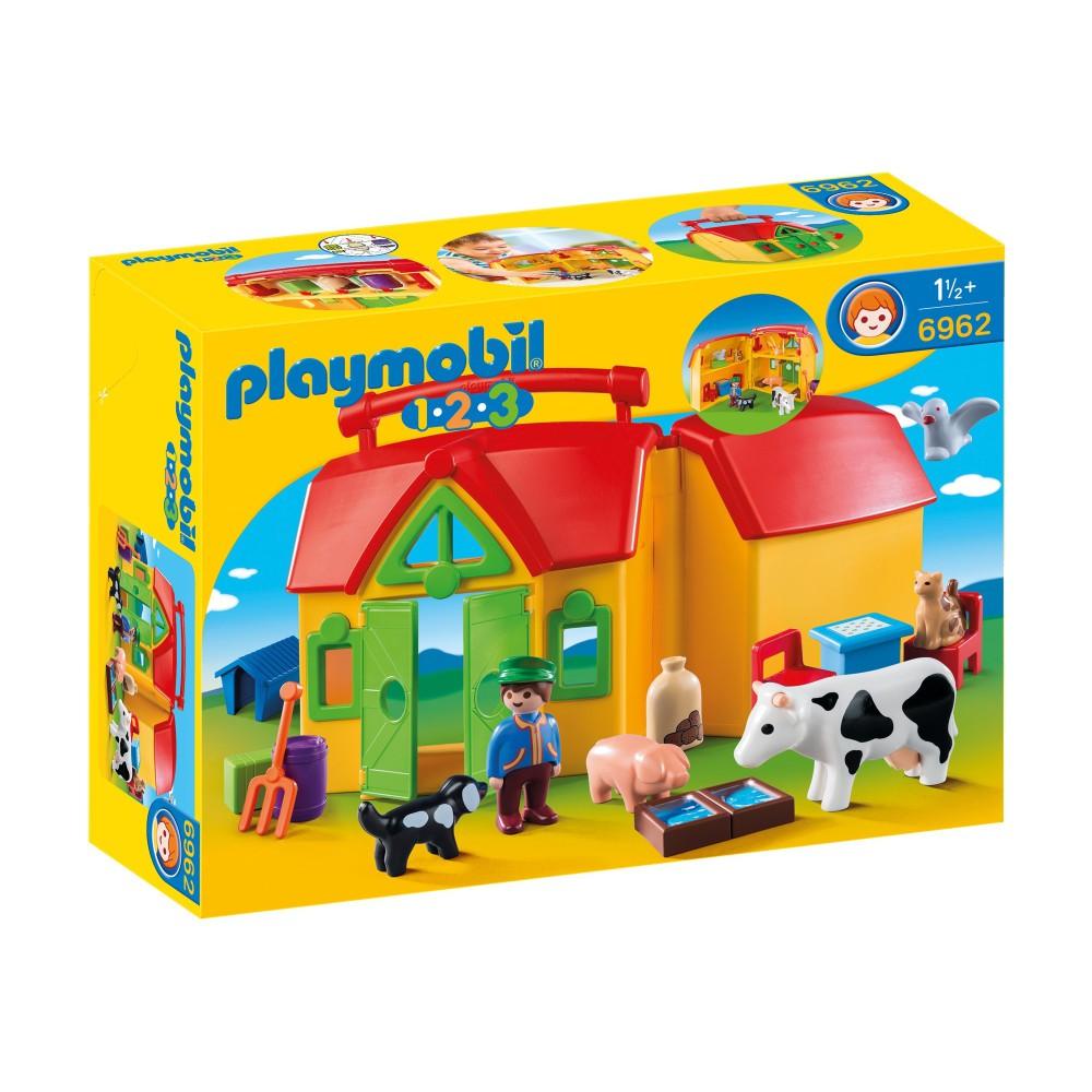 Playmobil - 1.2.3 Moje przenośne gospodarstwo rolne 6962