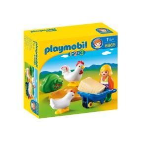 Playmobil - 1.2.3 Gospodyni z kurczakami 6965