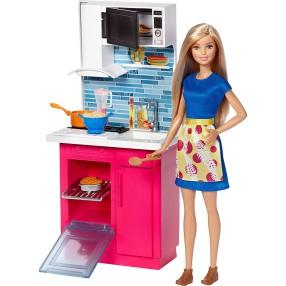 Barbie - Kuchania z lalką DVX54