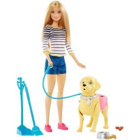 Barbie - Spacer z pieskiem czyścioszkiem DWJ68