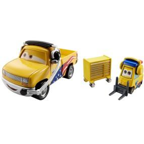 Mattel Auta - John Lassetire i mechanik Jeffa Corvette DHL15