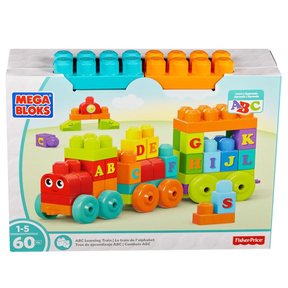 Mega Bloks First Builders - Pociąg edukacyjny ABC DXH35