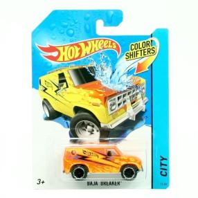 Hot Wheels - Autokolorowańce Auto Zmieniające Kolor Baja Breaker BHR18