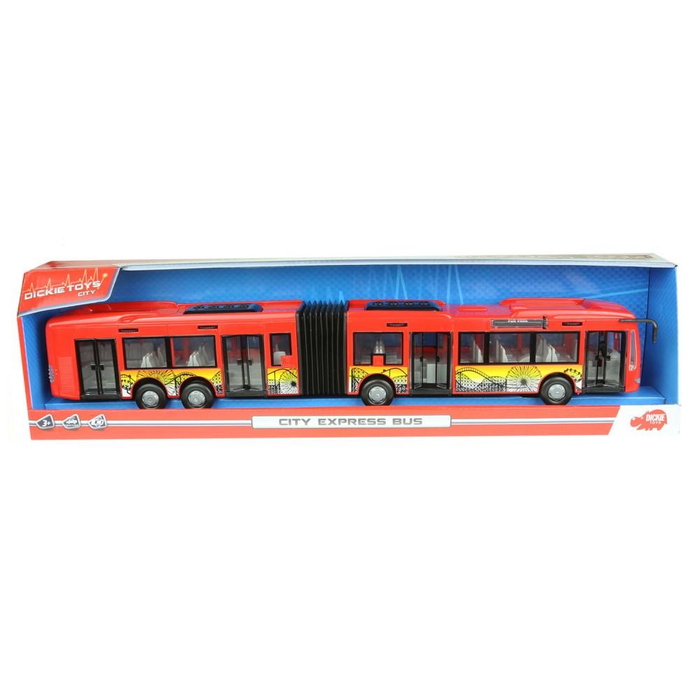Dickie City - Autobus City Express Czerwony 3748001 A