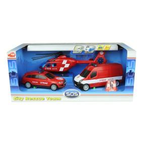 Dickie - SOS Zestaw 3 pojazdów Straż Pożarna 3314927 B