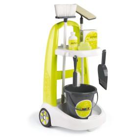 Smoby - Wózek do sprzątania z akcesoriami 330300