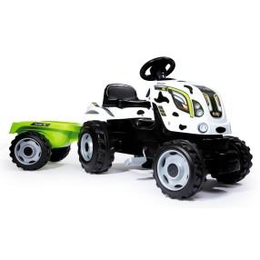 Smoby - Traktor Krówka Farmer XL z przyczepą 710113