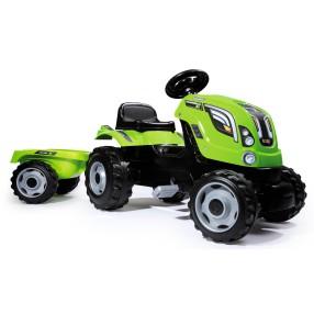 Smoby - Traktor Farmer XL z przyczepą Zielony 710111