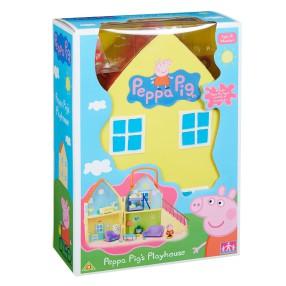 TM Toys Świnka Peppa - Domek Walizeczka z akcesoriami i figurką 05138