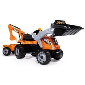 Smoby - Traktor Builder MAX z z łyżką, koparką i przyczepą 710110