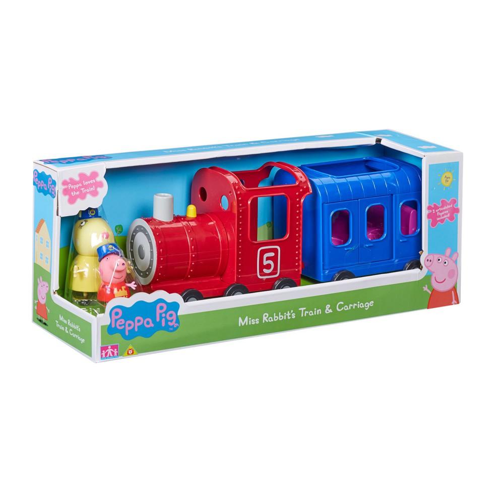 TM Toys Świnka Peppa - Pociąg z wagonikiem i 2 figurki 06152