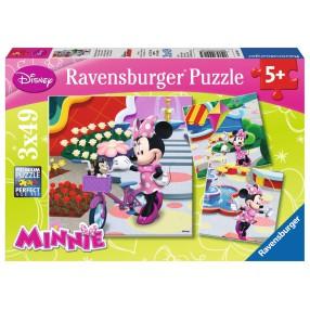Ravensburger - Puzzle Piękna Myszka Minnie 3x49 094165