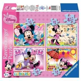 Ravensburger - Puzzle Myszka Minnie i przyjaciele 4w1 072552